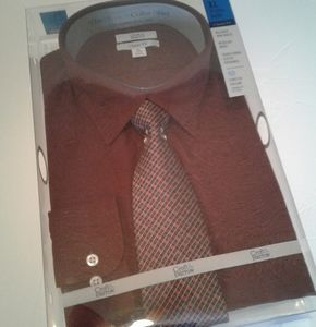 🌺NWT Mens Croft & Barrow Stretch Collar Shirt/Tie